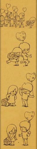 love story- hiding heart